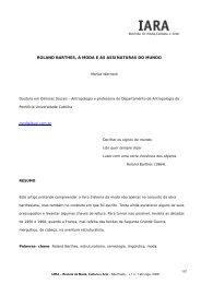 roland barthes, a moda e as assinaturas do mundo - IARA - Revista ...