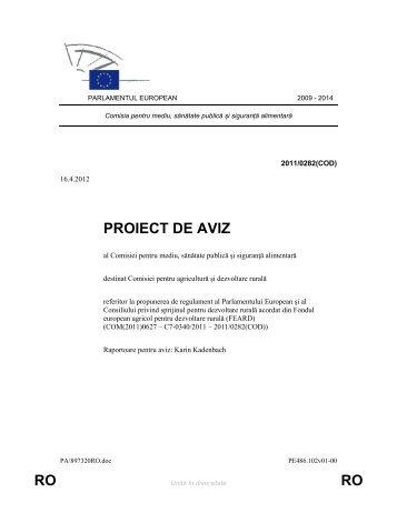 RO RO PROIECT DE AVIZ - Europa