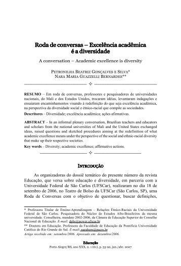 Roda de conversas – Excelência acadêmica é a diversidade ... - pucrs