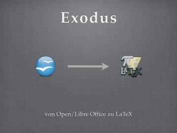 von Open/Libre Office zu LaTeX
