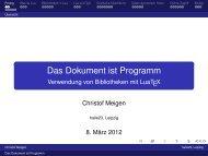Christof Meigen: Das Dokument ist Programm – Anwendungen von ...