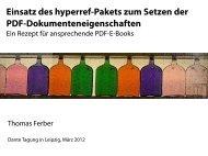 Einsatz des hyperref-Pakets zum Setzen der PDF ...