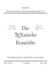 Die TeXnische Komödie, 1990, No 1 - Dante eV