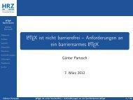 LATEX ist nicht barrierefrei – Anforderungen an ein barrierearmes ...