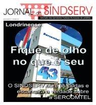 EDIÇÃO NÚMERO 161 - DEZEMBRO 2007 - SINDSERV-LD