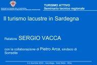 Il turismo lacustre in Sardegna Relatore SERGIO VACCA - Regione ...