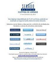 CLIPPING DE JORNAIS - Senado Federal