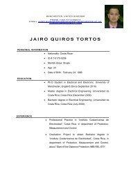 Curriculum Jairo Quiros Tortos