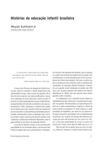 Histórias da educação infantil brasileira - ANPEd