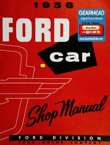 DEMO - 1956 Ford Car Shop Manual - ForelPublishing.com