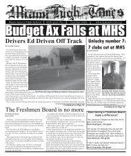 issue 1 final 8.indd - Miami Senior High School - Miami-Dade ...