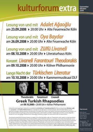 Programm - Kulturforum Türkei Deutschland