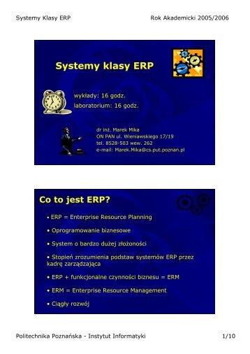 Systemy klasy ERP