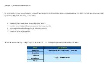 Acesse o PDF com Modelos de Perguntas e ... - BM&FBovespa