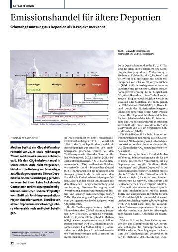 Deponieschwachgasnutzung / Deponiegas als JI - IB GmbH