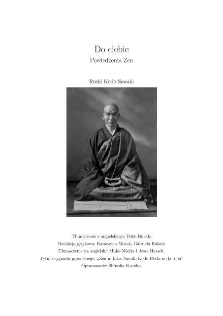 Do Ciebie Powiedzenia Zen Buddyzm W Polsce I Na świecie