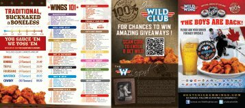 Download this Wild Wing Take Out Menu in PDF Format (click here)