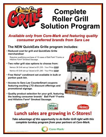 Complete Roller Grill Solution Program - Core-Mark