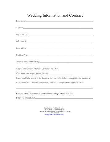 Download Contract - Sara Gambino Weddings & Hair