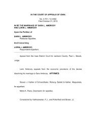 IN THE COURT OF APPEALS OF IOWA No. 2-751 / 12-0492 Filed ...