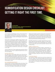 humidification design checklist - Armstrong International, Inc.