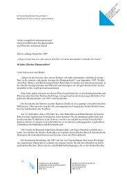 Ökumenischer Bettagsbrief 2007 - Reformierte Kirche Kanton Zürich