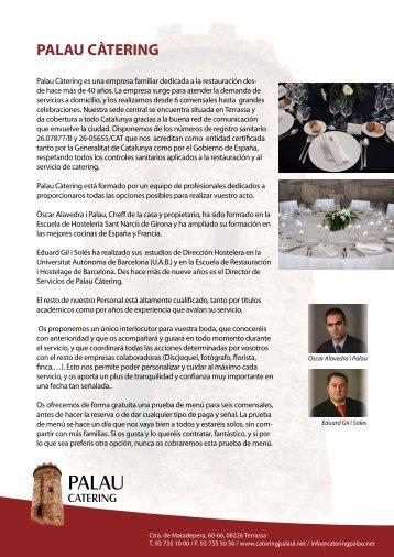 Menús bodas ajustados 2013 - Catering Barcelona - Palau