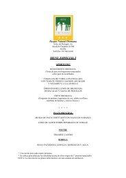 menu empresas - Hotel Oromana