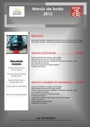 menus boda 2012 (2 - Civis Hoteles