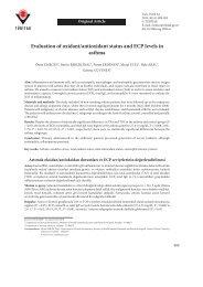 Evaluation of oxidant/antioxidant status and ECP levels in ... - Tübitak