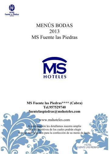 MENÚS BODAS 2013 MS Fuente las Piedras - Ms hoteles