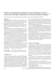 Patterns of bioelectrical impedance vector ... - Data-input.de
