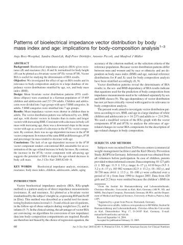 Patterns of bioelectrical impedance vector ... - Data-input.de