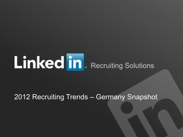 Recruiting Trends 2012 - US - DATAKONTEXT