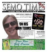 'ON HIS OWN TERMS' - SEMO TIMES