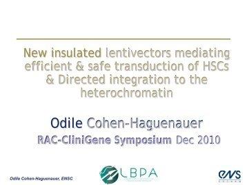 Odile Cohen-Haguenauer, M.D., Ph.D.