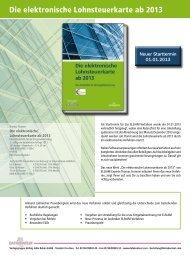 Die elektronische Lohnsteuerkarte ab 2013 - DATAKONTEXT