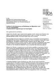 BDA-Rundschreiben - DATAKONTEXT