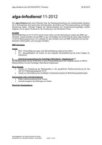 alga-Infodienst 11-2012 - DATAKONTEXT