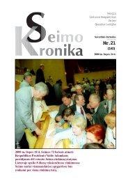 Nr.21 (160) - Lietuvos Respublikos Seimas