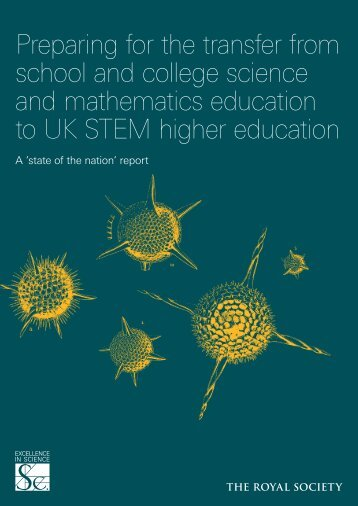 Preparing for the transfer to STEM higher ... - The Royal Society