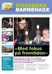 Barnehageavisa for Fiskebekk barnehage 2012 - minbarnehage.no