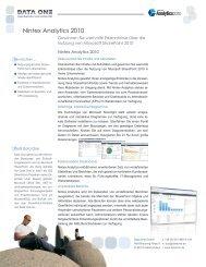 Nintex Analytics 2010 - Data One GmbH
