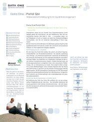 Data One - Portal QM Portal QM - Data One GmbH