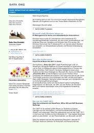 2011-03-16 Newsletter Basis Infrastruktur.pdf - Data One GmbH
