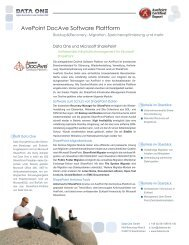 AvePoint DocAve Software Plattform - Data One GmbH