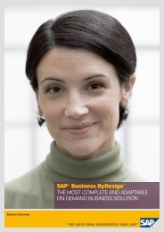 SAP® Business ByDesign™ - Data One GmbH