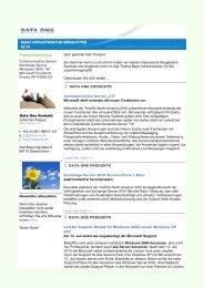 Themenüberblick Communication Server ... - Data One GmbH