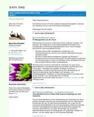 2011-06-15 Newsletter Basis Infrastruktur.pdf - Data One GmbH