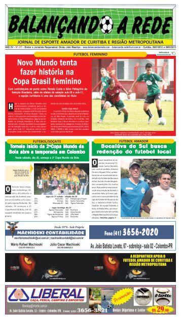 Novo Mundo tenta fazer história na Copa Brasil feminino